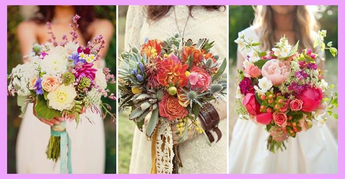 Букет невесты в стиле хиппи