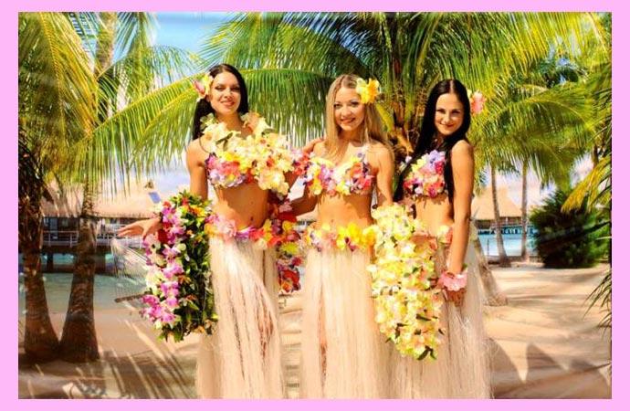 Гавайскйи девичник на пляже