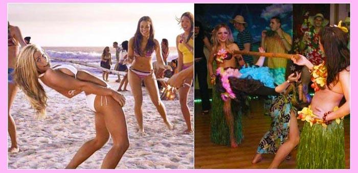 Конкурс для гавайского девичника