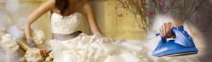 Свадебный шлейф и утюг