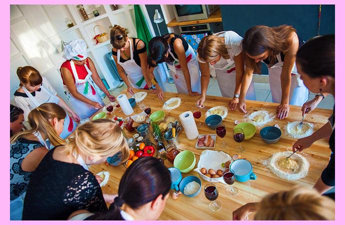 Урок кулинарии на девичник