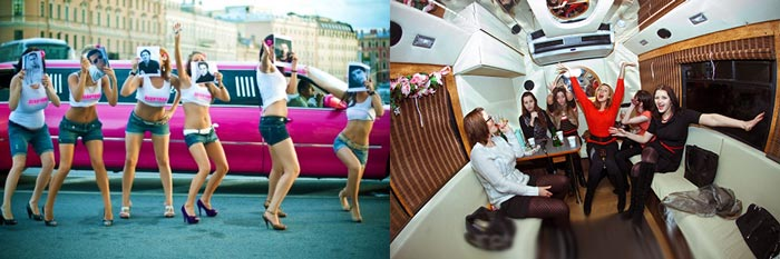 Развлечения в лимузине