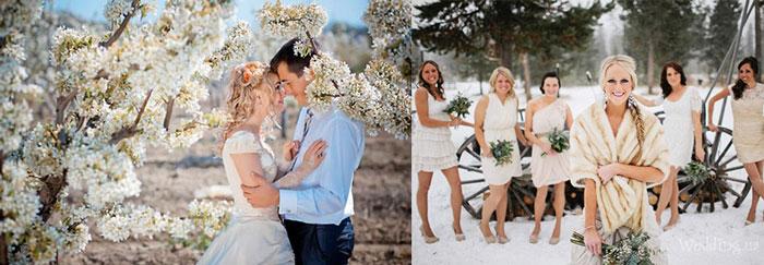 Свадьбы весной и зимой