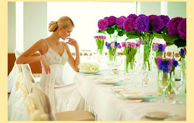 Невеста в ресторане