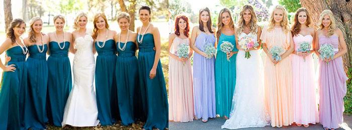 Наряды подружек невесты