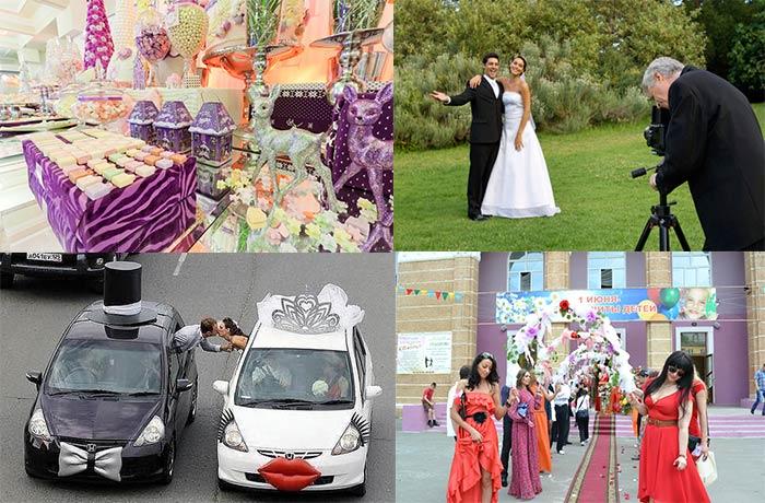 Свадьбы: декор, фотосессия, кортеж и гости
