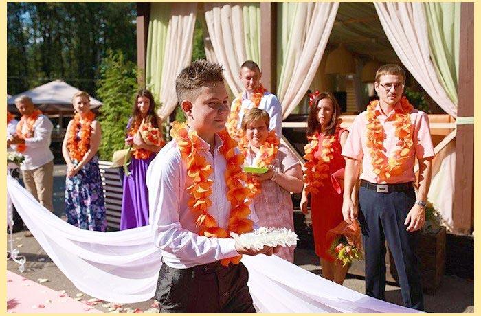 Гавайский стиль свадьбы