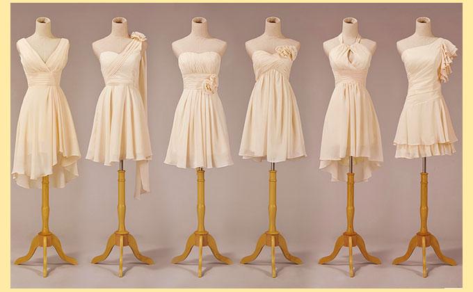 Стили платьев подружкам на свадьбу