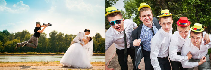 Видеосъемка ан свадьбе и друзья жениха