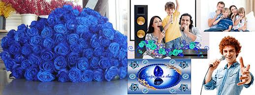 Розы синие и поздравления на сапфировую свадьбу