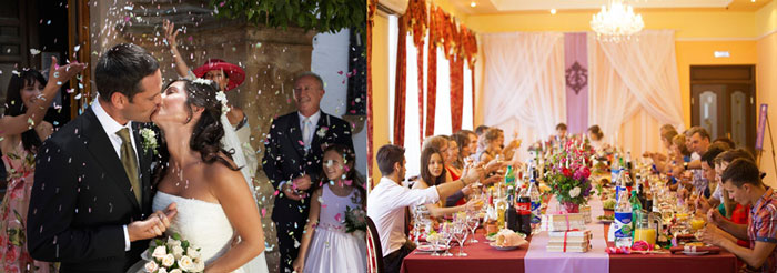 Свадебное торжество в ресторане