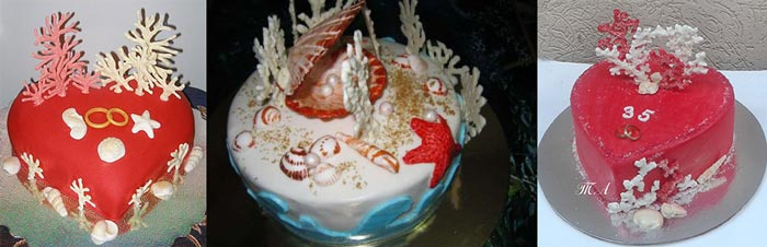Торты с кораллами