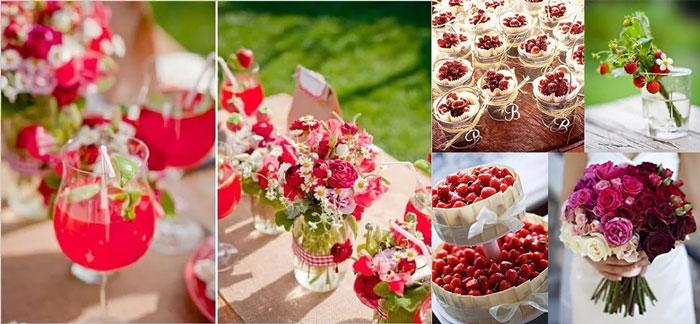 Свадебный декор с ягодами