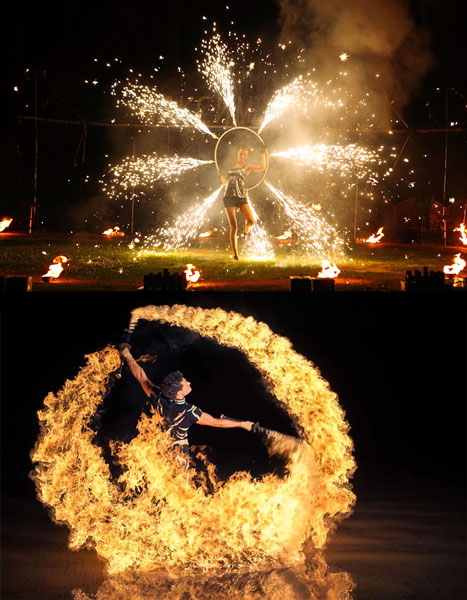 Шоу с огнем на свадьбе