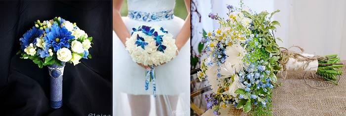 Цветы невесты в стиле гжель
