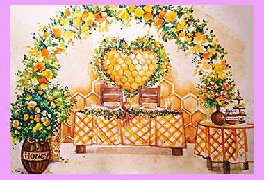 Медовый стиль свадьбы