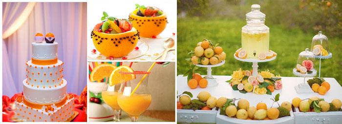 Апельсины в меню свадьбы