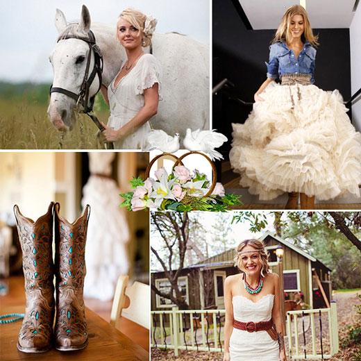 Невеста в стиле кантри