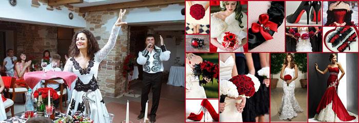 Жених и невеста на испанской свадьбе
