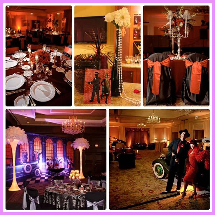 Свадебный декор в стиле Чикаго
