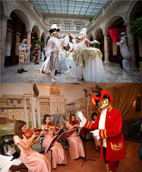 Свадебный бал карнавал в замке иил ресторане