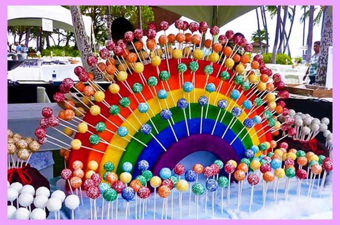 Радуга с конфетами