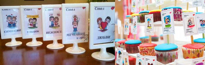 Декор столов свадебных