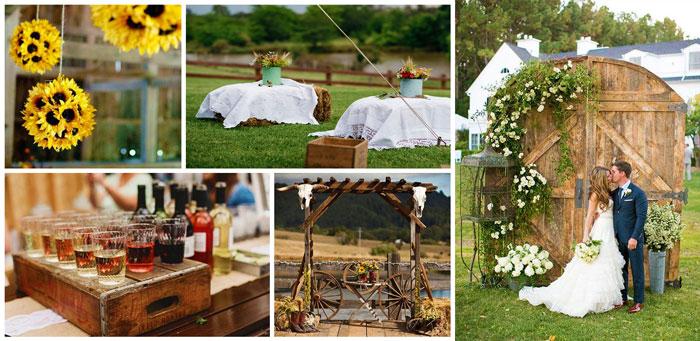 Декор свадьбы в стиле кантри