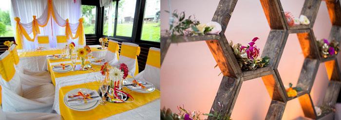 Свадебный декор в медовом стиле