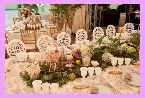 свадебный декор столов