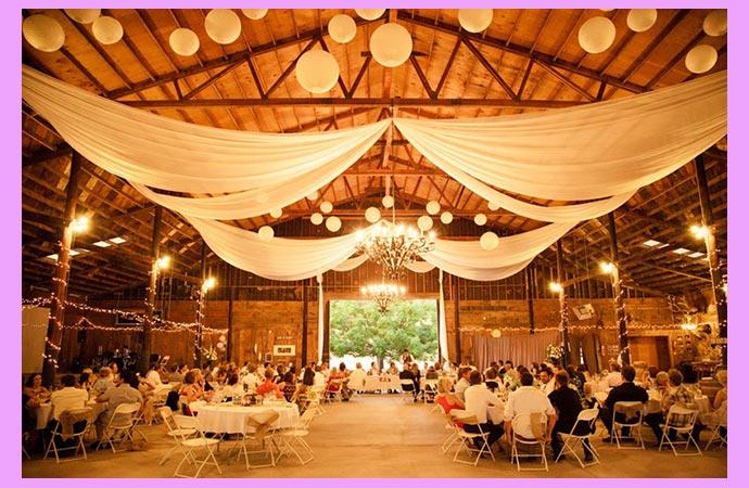 Свадебный декор столов и зала