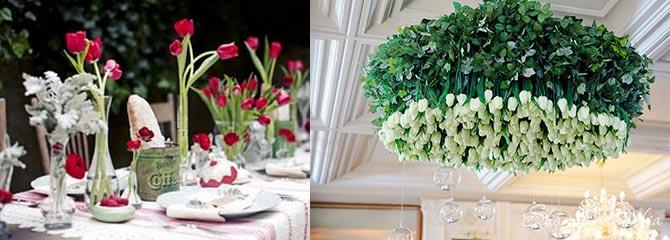 Тюльпаны на свадьбе