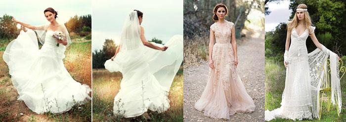 Образ невесты и платья - шебби шик