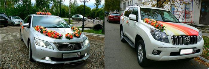 Декор машины на свадьбу