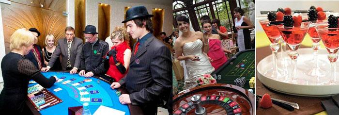 Стиль казино на свадьбе - игральные столы