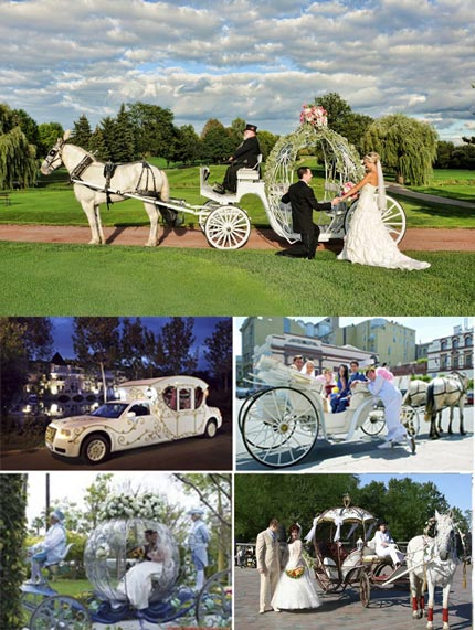 Кареты и машшины на свадьбу в стиле Золушка