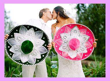 Жених и невеста в мексиканском стиле