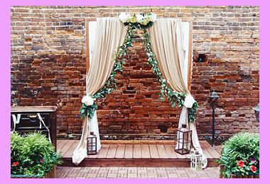 Арка свадьбы в стиле лофт