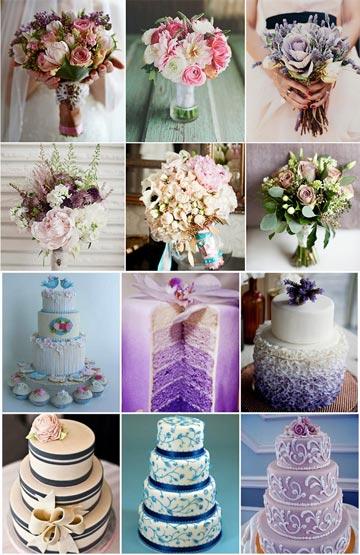 Букет невесты и свадебный торт