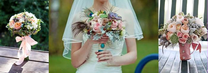 Букеты невесты в английском стиле