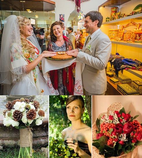 Свадебный каравай и букет невесты по славянским традициям
