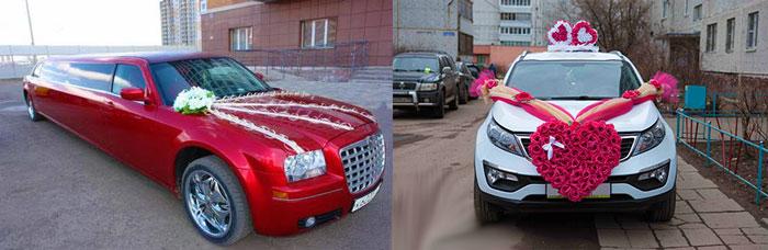 Свадебный декор машины