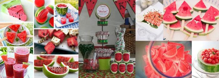 Десерты арбузной свадьбы