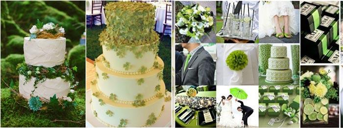 Торт и декор на свадьбу в ирландском стиле
