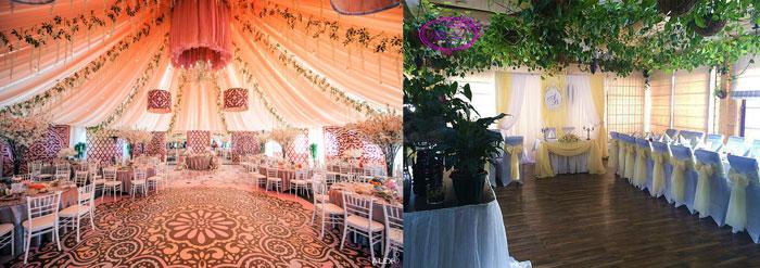 Свадьбный декор в шатре и кафе