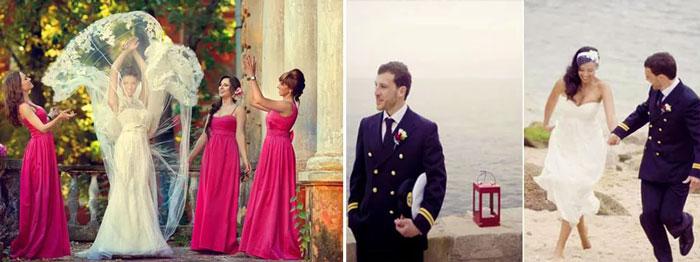 Образы жениха и невесты на свадьбе алые паруса