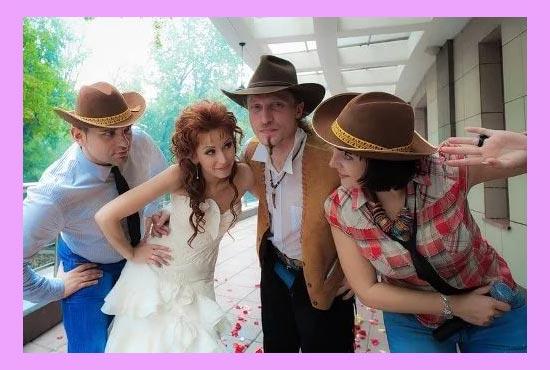 Ковбойская свадьба и наряды
