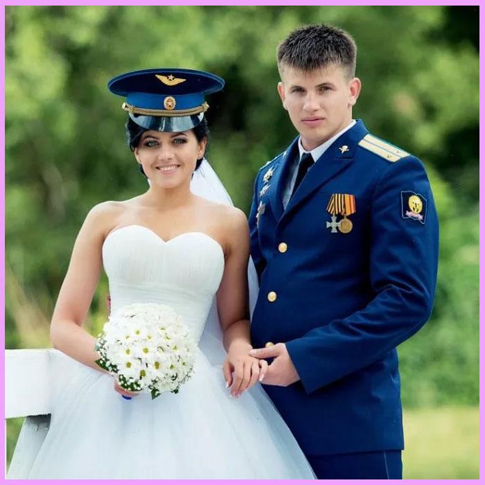 Невеста и жених ВДВ стиль