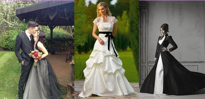 Наряды невесты с черным