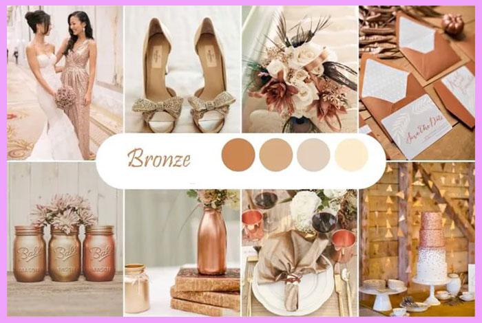 Палитра Бронз для свадьбы